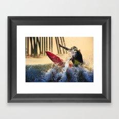 Lip Service Framed Art Print