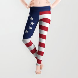 Betsy Ross flag - Authentic color and scale Leggings