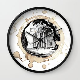 Coffee Stained Plantation-Louisiana Series Wall Clock
