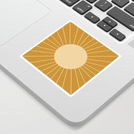 Minimal Sunrays - Golden Sticker