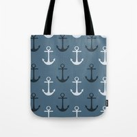 anchors Tote Bags featuring Anchors by Zen and Chic
