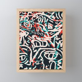 Street Art Pattern Graffiti Post Framed Mini Art Print