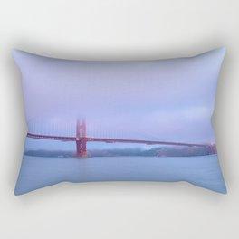 Golden Gate and Fog Rectangular Pillow