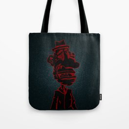 Distraught and Out in Red Tote Bag