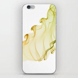 Duo color yellow green smoke iPhone Skin