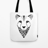 cheetah Tote Bags featuring Cheetah by Art & Be