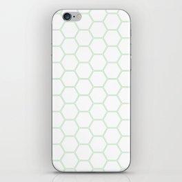 Honeycomb Mint Green #192 iPhone Skin