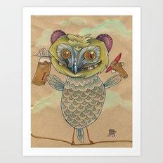 GINGERBREAD BIRD Art Print