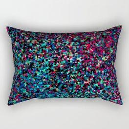 DAZZLE DARKER - Low-key rainbow sparkle Rectangular Pillow