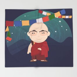 The Dalai Lama Throw Blanket