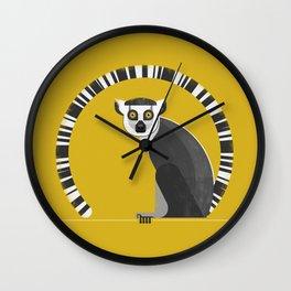 Ring Tailed Lemur Wall Clock