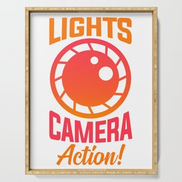 Lights Camera Action! Serving Tray