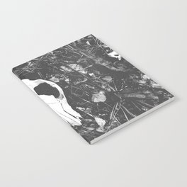 Woodland Animal Skull Black and White Photography Notebook