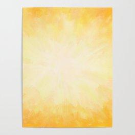 Golden Sunburst Poster