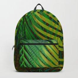 TROPICAL GREENERY LEAVES no9 Backpack