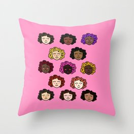 Shorty Curly Girl Throw Pillow