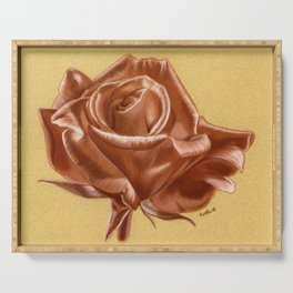 Sanguine Rose Serving Tray