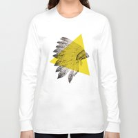 headdress Long Sleeve T-shirts featuring headdress by morgan kendall