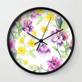 Garden Journal Wall Clock