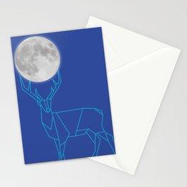 El ciervo y la luna Stationery Cards