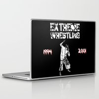 wrestling Laptop & iPad Skins featuring Extreme Wrestling by Darth Paul