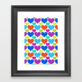 Bright hearts Framed Art Print