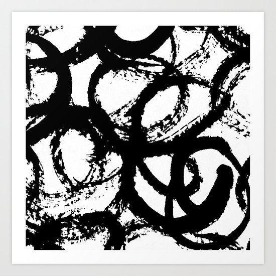Dance Black and White Art Print