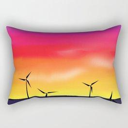 Texas Windmills Rectangular Pillow