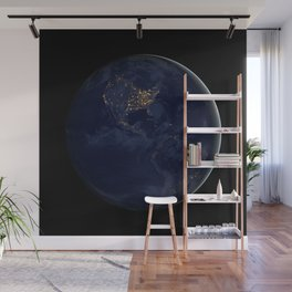 Night Lights (The Black Marble) Wall Mural