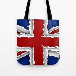 design flag from torn papers with shadows Tote Bag