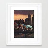 atlanta Framed Art Prints featuring atlanta by Jesse Treece
