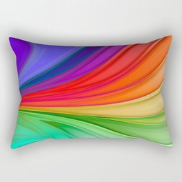 Abstract Rainbow Background Rectangular Pillow