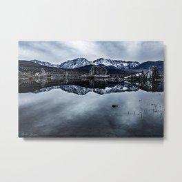 MONO LAKE WINTER Metal Print