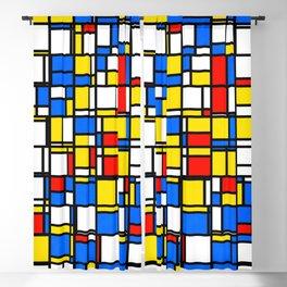 Mondrian Style 2 Blackout Curtain
