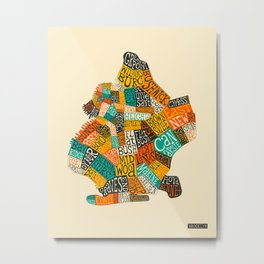 BROOKLYN NEIGHBORHOODS Metal Print