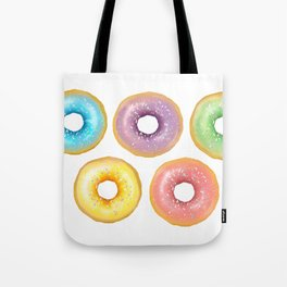 Rainbow Donuts Tote Bag