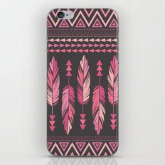 Painted Feathers-Gray iPhone & iPod Skin