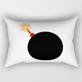 Old Black Cartoon style Bomb With Lit Fuse Rectangular Pillow