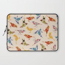 Vintage Wallpaper Birds Laptop Sleeve