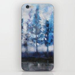Blue trees iPhone Skin