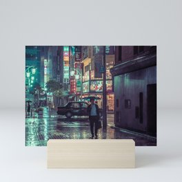 The Smiling Man // Rainy Tokyo Nights Mini Art Print