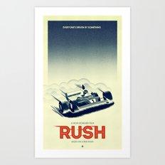 Rush alternative poster blue Art Print