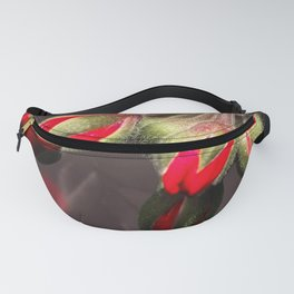 Bloom  Red And Dark Fanny Pack