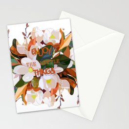 ENJOY TH LITTLE THINGS Stationery Cards