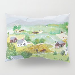 Anna Mary Robertson 'Grandma' Moses Mountains American Folk Art Pillow Sham