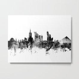 Warsaw Poland Skyline Metal Print