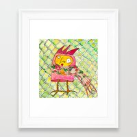 chicken Framed Art Prints featuring Chicken by Dawn Patel Art