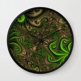 Fantasy World II, Abstract Fractal Art Wall Clock