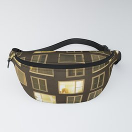 Modern apartment at night Fanny Pack