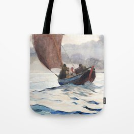Winslow Homer - Returning Fishing Boats, 1883 Tote Bag